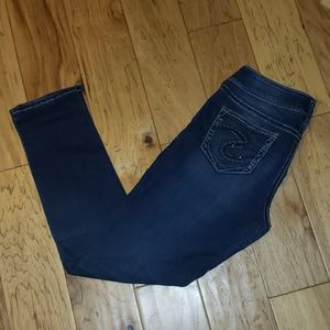Silver Skinny Jeans - Ready To Ship